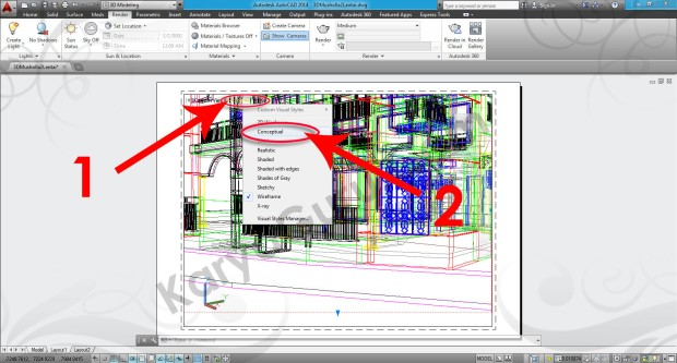 87-visual-style-conceptual-viewport-tutorial-autocad-3d