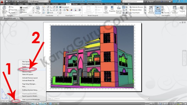 90-layout-rename-tutorial-autocad-3d