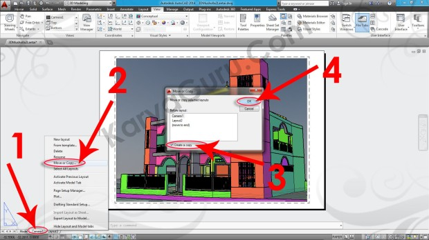 91-layout-move-or-copy-tutorial-autocad-3d