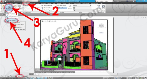 94-render-full-shadow-layout-viewport-tutorial-autocad-3d