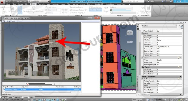98-render-process-layout-viewport-tutorial-autocad-3d