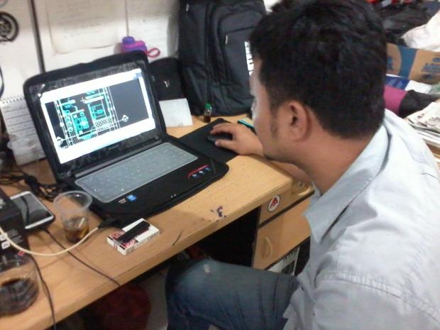 Materi Denah Kursus Private AutoCAD di Jl. Panglima Polim Raya Kebayoran Baru Jakarta Selatan
