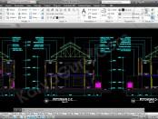 gambar-kerja-potongan-musholla-2-lantai-autocad