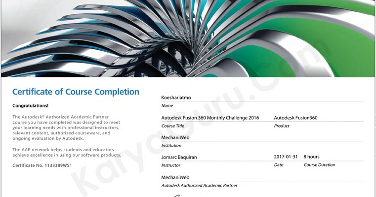 certificate-of-completion-autodesk-fusion360