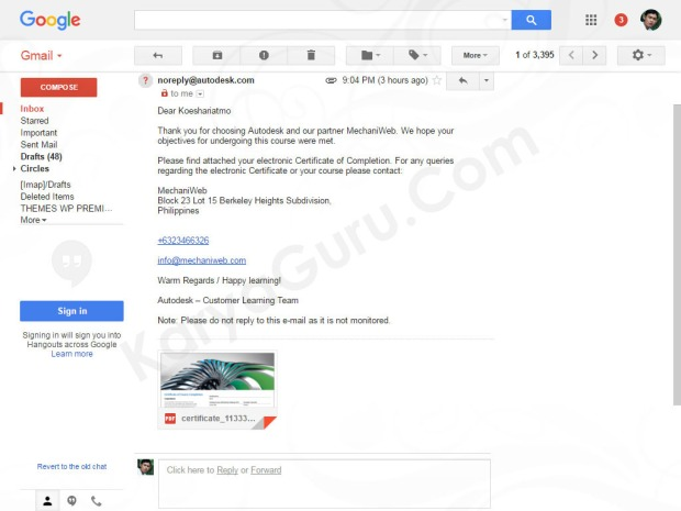 email-electronic-certificate-of-completion-autodesk-fusion360