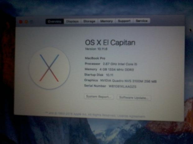 Hackintosh OSX Elcapitan Lenovo Thinkpad T410 Nvidia Web Driver NVS 3100M