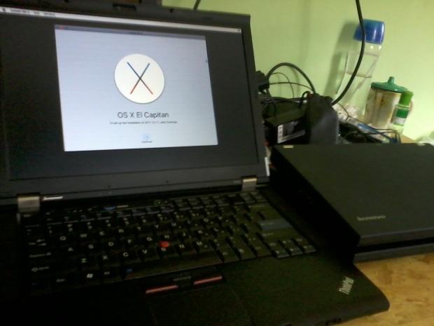 Proses Install Hackintosh Elcapitan Thinkpad T410 DualVGA NvidiaNVS3100M IntelHD
