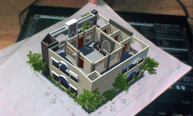 Augmented Reality Arsitektur Interior Exterior Musholla