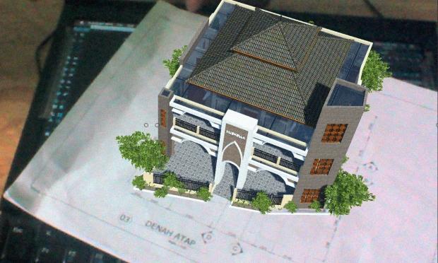 Augmented Reality untuk Desain Arsitektur Eksterior Musholla 2 Lantai