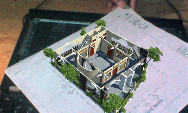 Augmented Reality untuk Desain Arsitektur Interior Bangunan 2 Lantai
