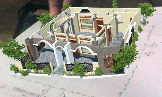 Augmented Reality untuk Desain Arsitektur Interior Musholla 2 Lantai