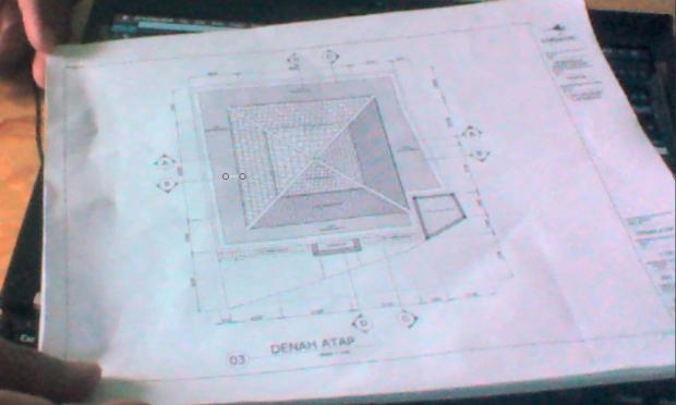 Denah Atap Musholla 2 Lantai