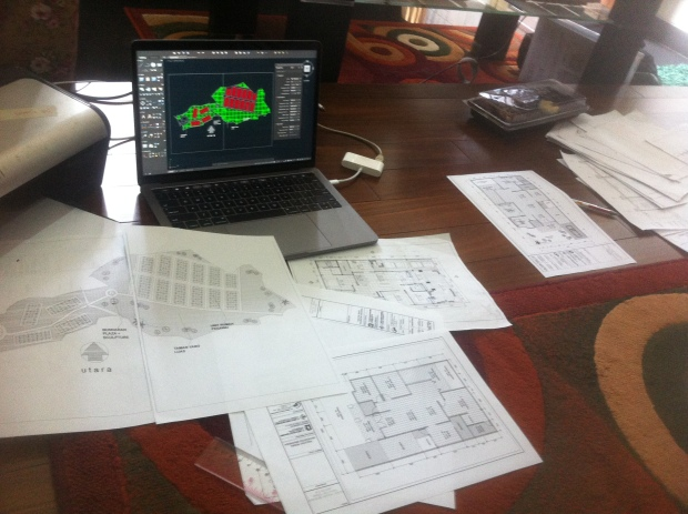 Hasil Printout Cetak Skala Gambar Arsitektur Kursus Private AutoCAD for Mac di Srengseng Sawah Jagakarsa Jakarta Selatan