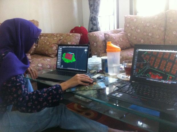 Latihan Gambar Arsitektur Kursus Private AutoCAD for Mac di Srengseng Sawah Jagakarsa Jakarta Selatan