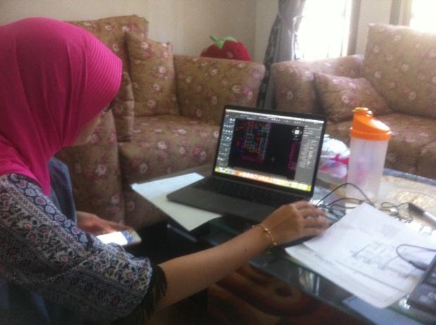 Latihan Gambar Denah Kursus Private AutoCAD for Mac di Srengseng Sawah Jagakarsa Jakarta Selatan