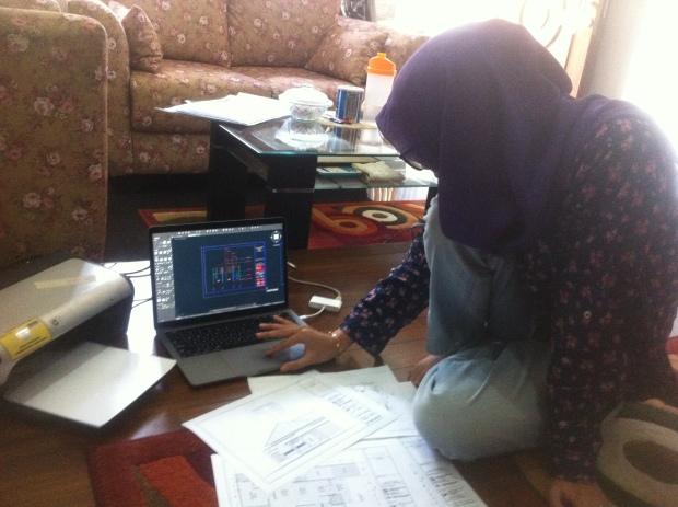 Latihan Gambar Potongan Kursus Private AutoCAD di Srengseng Sawah Jagakarsa Jakarta Selatan