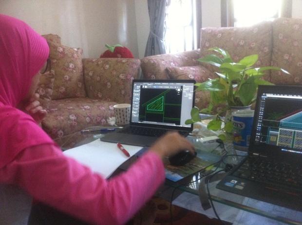 Latihan Gambar Tampak Kursus Private AutoCAD for Mac di Srengseng Sawah Jagakarsa Jakarta Selatan