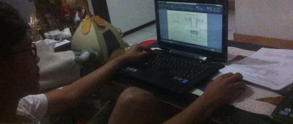 Latihan Materi 3D Kursus Private AutoCAD di Indraprasta 1 Bantarjati Bogor Utara