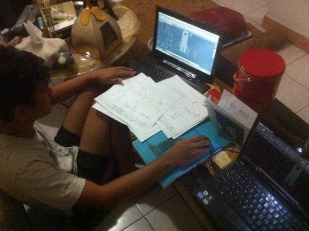 Latihan Materi Dasar 2D Kursus Private AutoCAD di Indraprasta 1 Bantarjati Bogor Utara