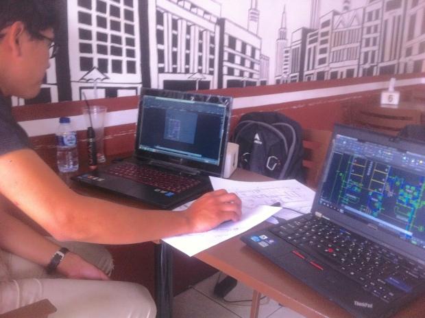 Materi Denah Kursus Private AutoCAD + Fusion360 di Syahaba Coffee Bogor