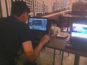 Proses Rendering Kursus Private AutoCAD + Fusion360 di Syahaba Coffee Bogor