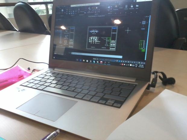 Latihan Gambar Kursus Private AutoCAD di Perpustakaan Universitas Indonesia Depok Jawa Barat