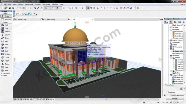 3d modeling masjid besar ciomas bogor