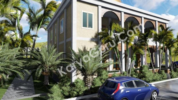 rendering 3d masjid ciomas bogor tampak belakang