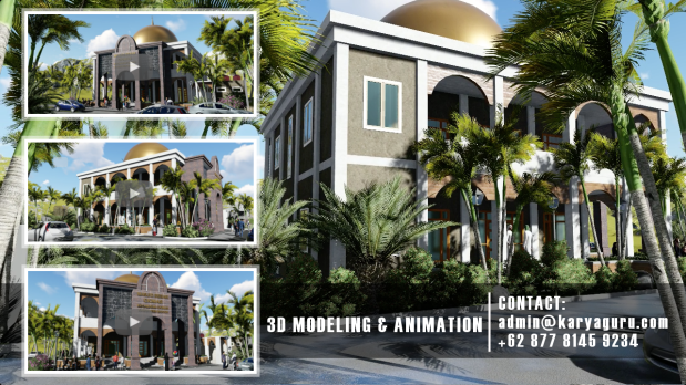Visualisasi 3D Animation Desain Masjid Bogor
