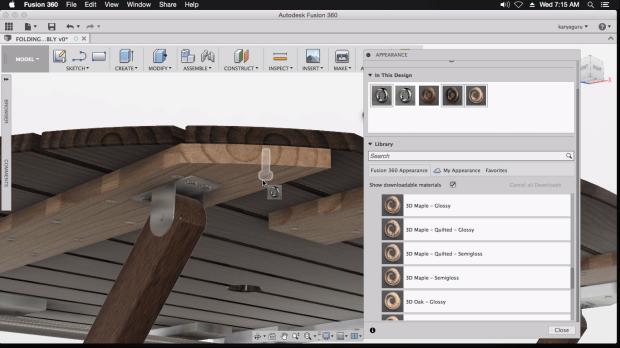 Proses Pemberian Material Autodesk Fusion 360