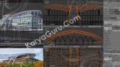 3D Gambar PraDesain Gedung Kantor DPRD Blender