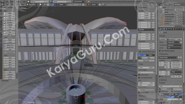 3D Model PraDesain Gedung Kantor DPRD Blender