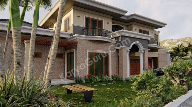 3D Rendering Modeling Animation Architecture Rumah 2 Lantai
