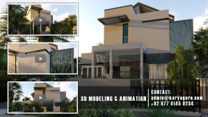 3D Modeling Rendering Animation for Architecture Visualization Services Minimalist House