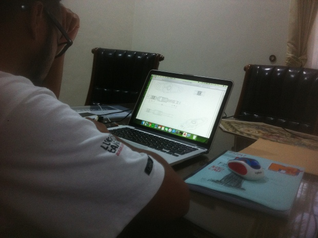 Peserta Latihan Printout Kursus Private AutoCAD di Komplek Arco Depok Sawangan JawaBarat