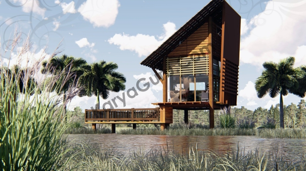 Render Realistic Photo FrontSide View - VOYAGEUR Personal Studio for Travel Blogger