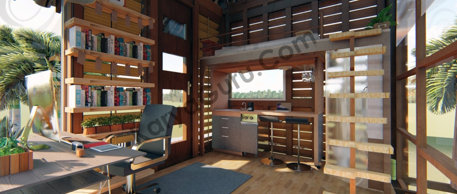 Render Realistic Photo Interior View1 - VOYAGEUR Personal Studio for Travel Blogger