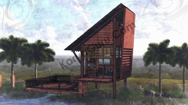 Render Sketch Front View - VOYAGEUR Personal Studio for Travel Blogger