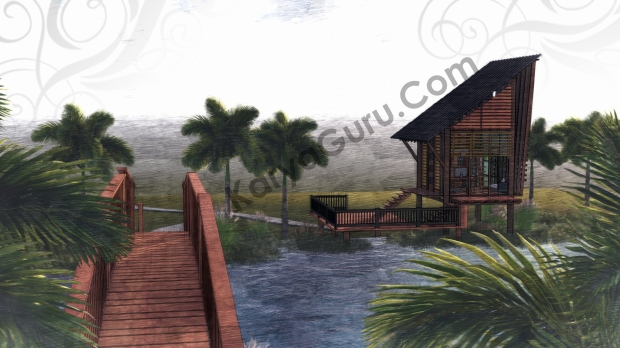 Render Sketch FrontLeft View - VOYAGEUR Personal Studio for Travel Blogger