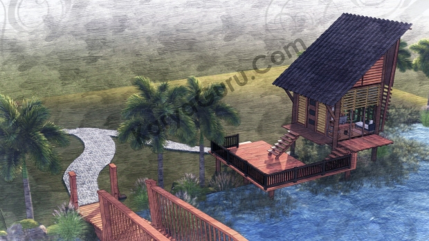 Render Sketch TopFront View - VOYAGEUR Personal Studio for Travel Blogger