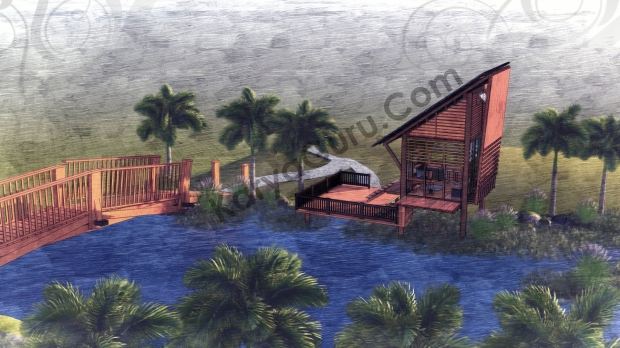 Render Sketch TopFrontRight View - VOYAGEUR Personal Studio for Travel Blogger