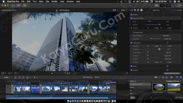 Video Editing FcpX Office Building Architectural Design