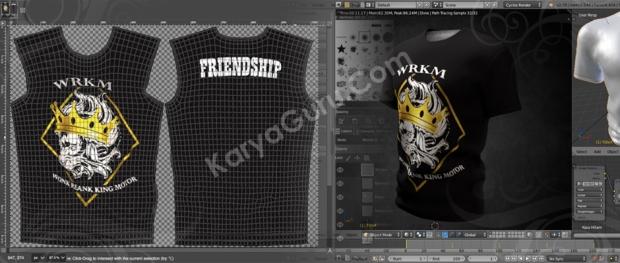 2D 3D Mockup T-shirt Design MotorCycle Club
