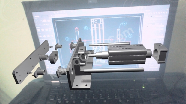 Augmented Reality Mechanical Part Design KaryaGuru Center