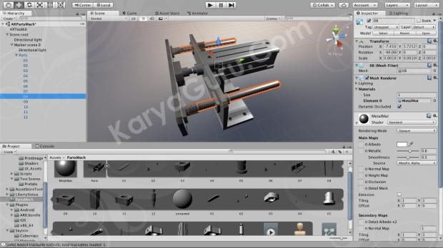 Konfigurasi Marker 2D dan Obyek 3D serta Animasi untuk Augmented Reality Mekanikal Part Assembly