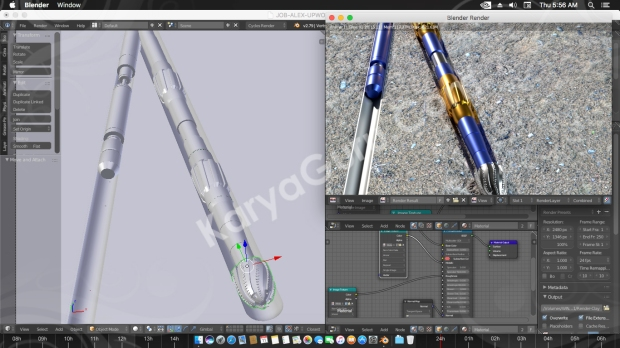 3D Modeling & Rendering Rotary Drilling Piece with Blender