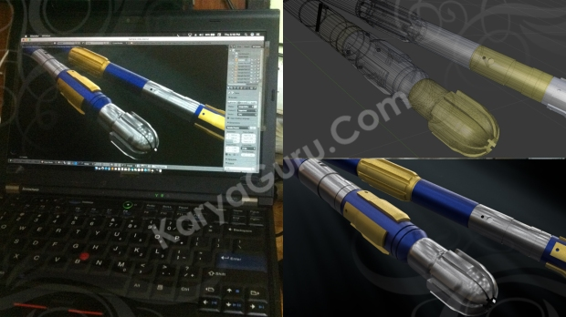 Mockup Rotary Drilling Piece
