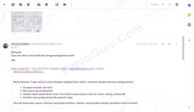 Tugas AutoCAD Denah Rumah 2 Lantai Kursus AutoCAD KaryaGuru Center