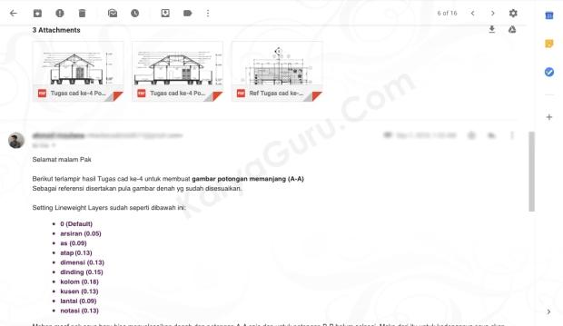 Tugas AutoCAD Potongan Rumah Kursus AutoCAD KaryaGuru Center