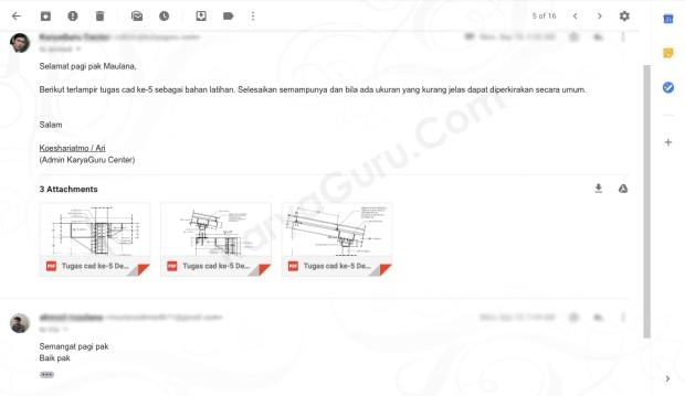 Tugas AutoCAD Struktur Baja Kursus AutoCAD KaryaGuru Center